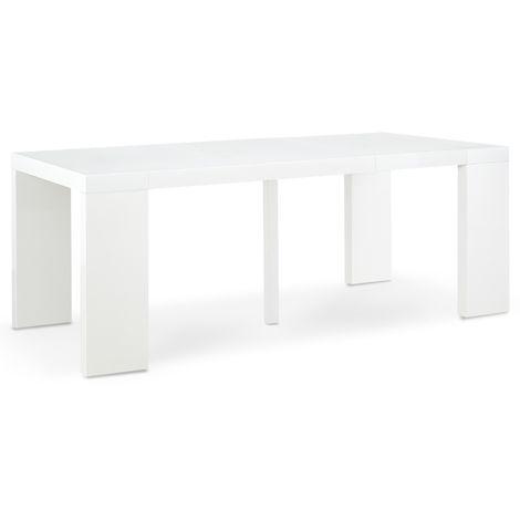 table blanc laque a prix mini