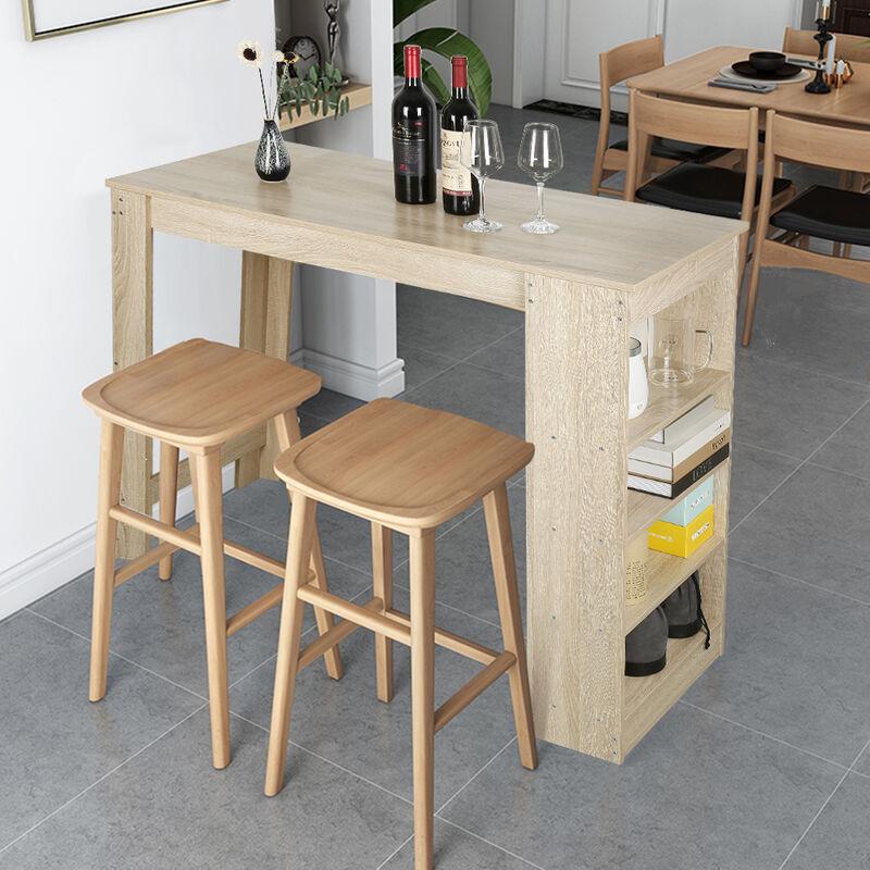 table de bar 2 a 4 personnes avec rangements mange debout table haute de cuisine