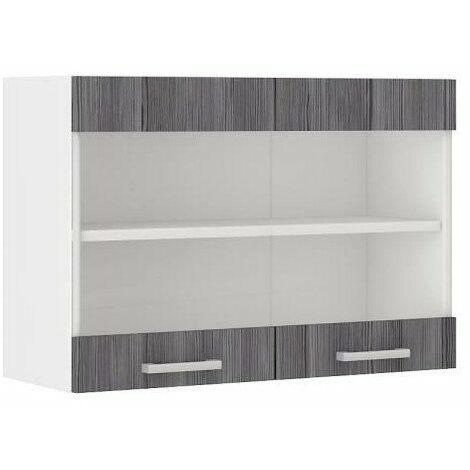 meuble haut cuisine gris a prix mini