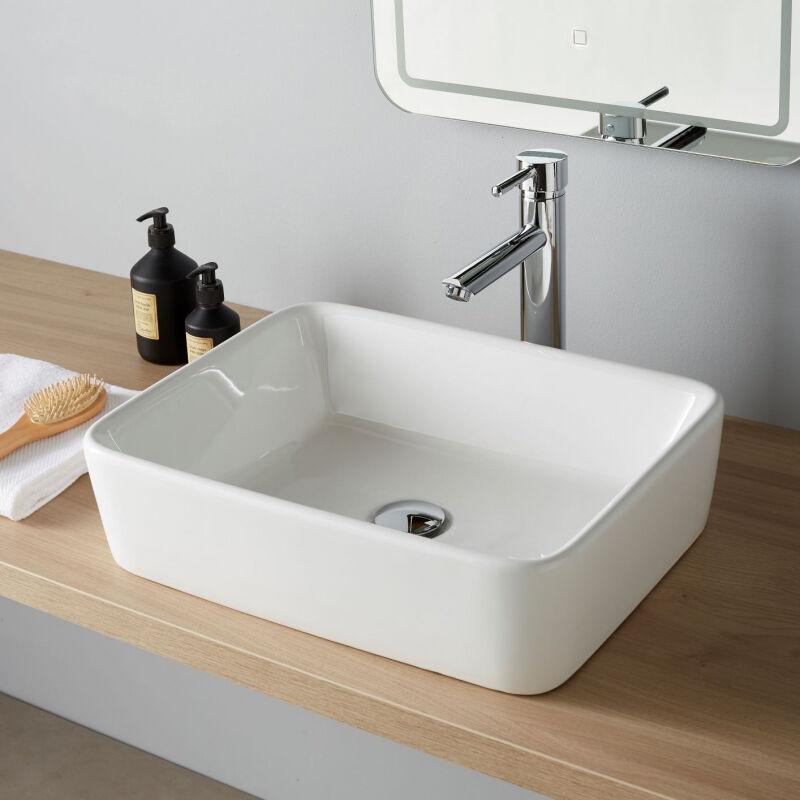 Vasque A Poser Rectangle En Ceramique 111107