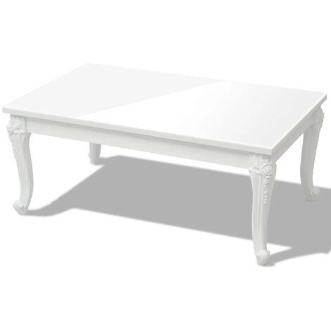 table basse blanche a prix mini