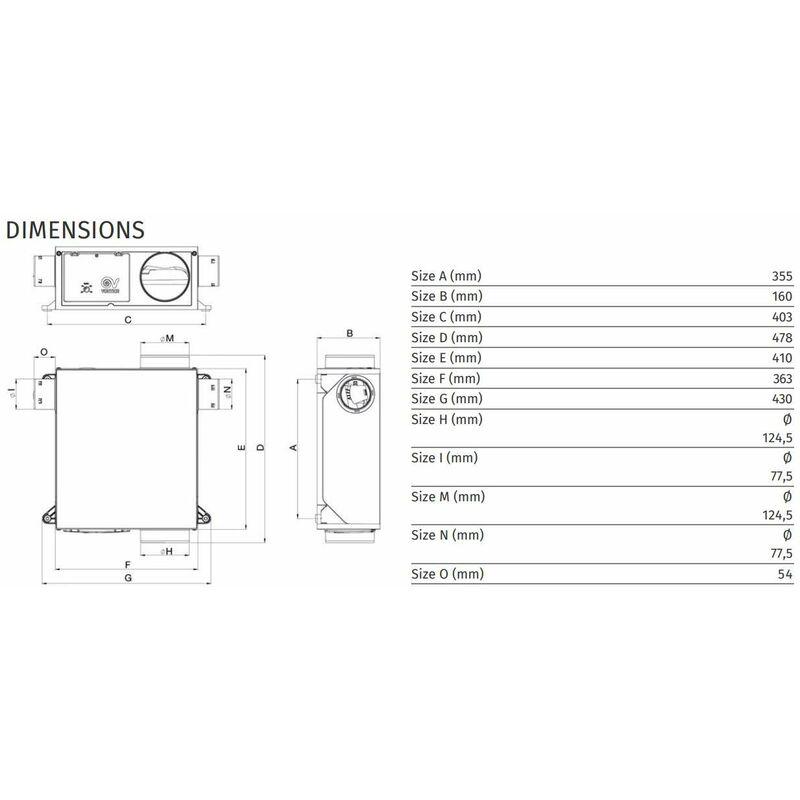Vmc Hygroreglable Avec 2 Piquages Et 2 Bouches Extra Plate Axevmvvpl