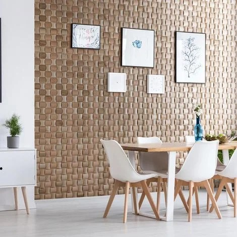 Wood Wallcovering Solid Wood Decorative Wood Panel Wooden