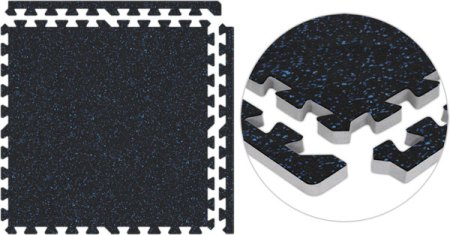 Trade Show Flooring with Hard Rubber Top Black Blue Rubber Flooring