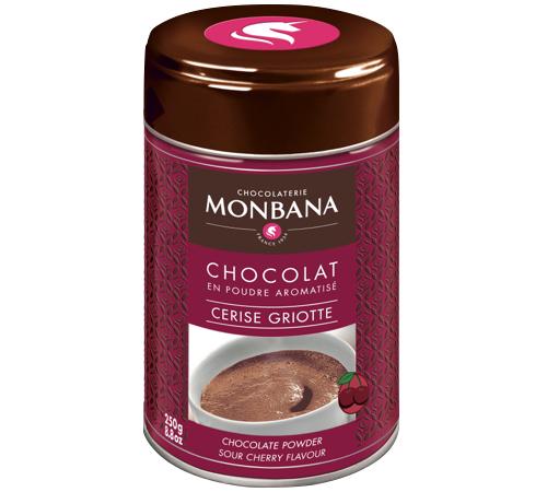 chocolat en poudre aromatise cerise griotte 250g monbana