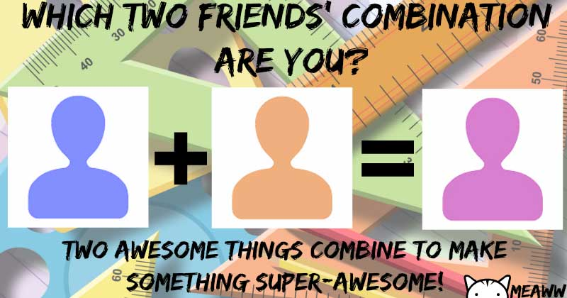 Which two friends are you a combination of?