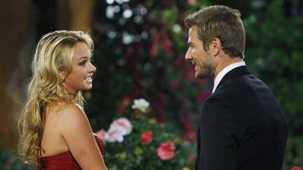 """THE BACHELOR - """"Episode 1501"""" - In """"Episode 1501,"""" Brad returns to the Malibu mansion, but is caught completely off guard when Chris Harrison escorts in two surprise guests - DeAnna and Jenni! As if he weren't anxious enough, Brad must face the two women he scorned three years ago. He attempts to sincerely apologize to them, but will they accept his heartfelt mea culpa? The 30 women are not sure whom they're going to meet, and there is no telling how they'll react when they find out who the controversial man is. Brad knows he has a lot to prove, and his worst fears are confirmed when the first bachelorette greets him with a slap to the face. Many of the women question Brad's intentions, but things lighten up when one emotional bachelorette jumps into his arms, and then a fun-loving nanny playfully grabs his rear end, when """"The Bachelor"""" premieres MONDAY, JANUARY 3 (8:00-10:01 p.m., ET) on the ABC Television Network. (ABC/RICK ROWELL)MADISON, BRAD WOMACK"""