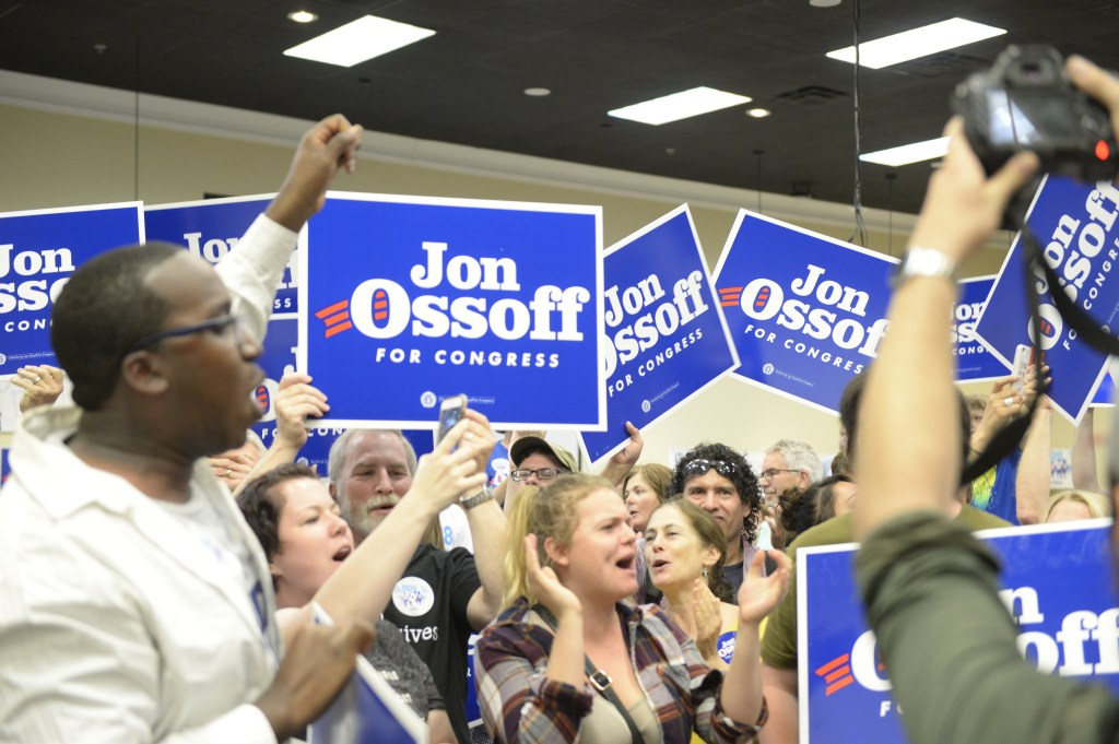 Ossoff's rally the night before the special election in Roswell, Ga. (Simone Pathé/CQ Roll Call)