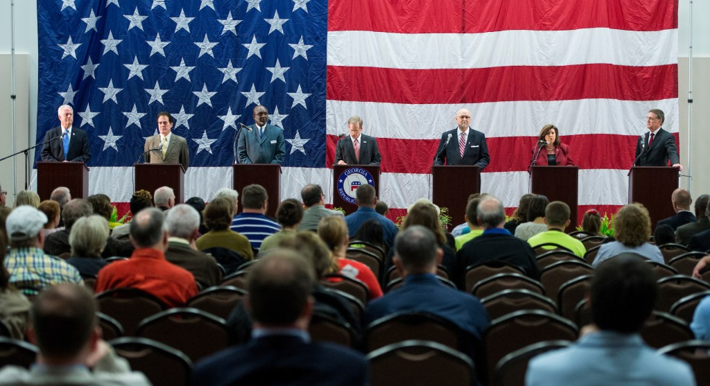 Three years ago, Handel was the only woman on stage at a GOP Senate primary debate. (Bill Clark/CQ Roll Call File Photo)