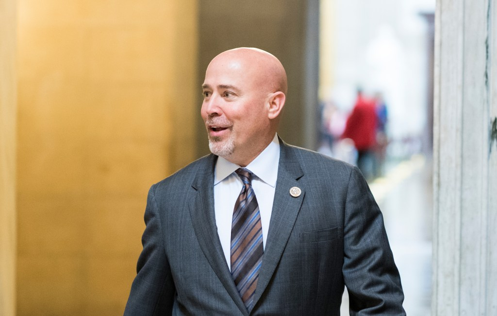 UNITED STATES - MAY 4: Rep. Tom MacArthur, R-N.J., walks through Statuary Hall on his way to the House floor in the Capitol for the votes on repeal and replace of Obamacare on Thursday, May 4, 2017. (Photo By Bill Clark/CQ Roll Call)