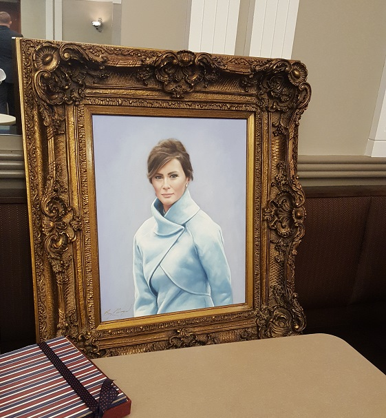 The portrait of First Lady Melania Trump. (Photo courtesy of anonymous HOH source)