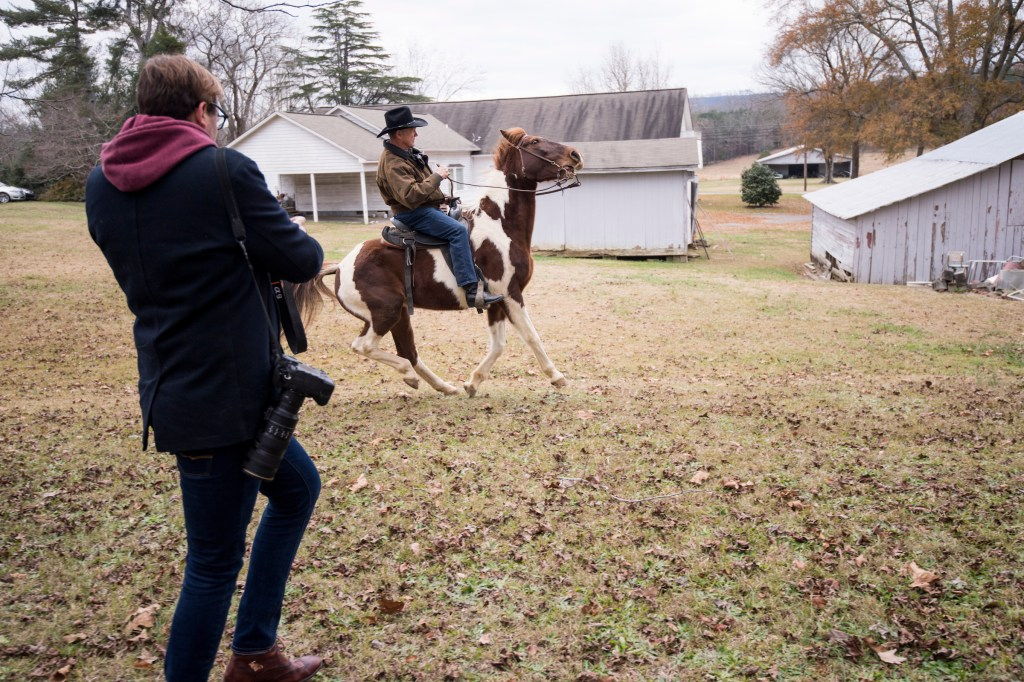 DECEMBER 11: Judge Roy Moore rides away on his horse after voting at the Gallant Volunteer Fire Department in Gallant, Ala., on Tuesday, Dec. 12, 2017. (Bill Clark/CQ Roll Call)