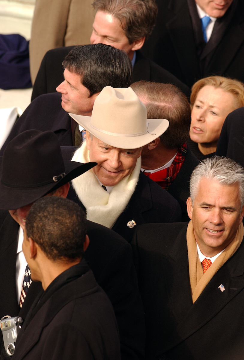 Jan. 20, 2005: Hatch leaves the 55th Presidential Inauguration where President George W. Bush was sworn in.