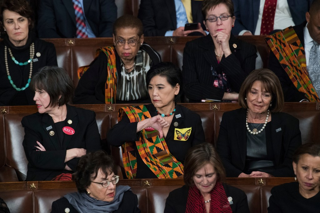 UNITED STATES - JANUARY 30: Rep. Judy Chu, D-Calif., gives a