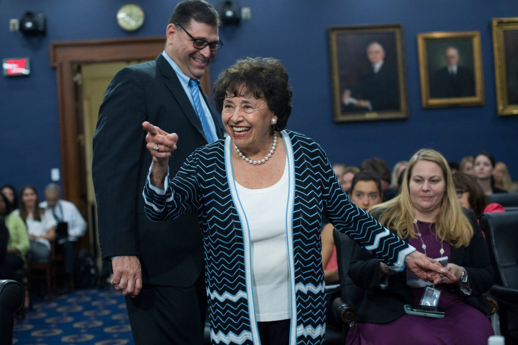 UNITED STATES - JUNE 27: Rep. Nita Lowey, D-N.Y., arrives for a House Appropriations State, Foreign Operations and Related Programs Subcommittee hearing in Rayburn Building on the