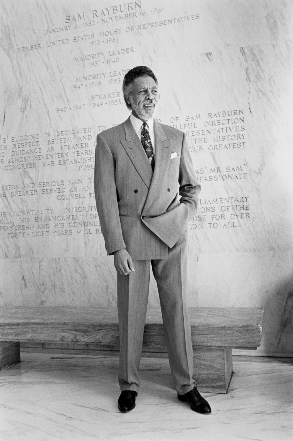 Rep. Ron Dellums, D-Calif. 1991. (Photo by Maureen Keating/CQ Roll Call)