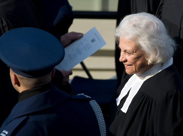 Supreme Court Jutice Sandra Day O'Connor arrives for the Inauguration Ceremony for President Barack Obama on the West Front of the U.S. Capitol on Tuesday, Jan. 20, 2009.