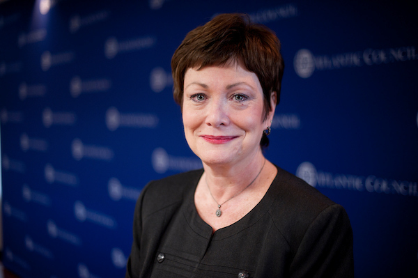 UNITED STATES MARCH 1: Ellen Tauscher, former Under Secretary of State for Arms Control and International Security Affairs, now with the Atlantic Council, poses on Thursday, March 1, 2012. (Photo By Bill Clark/CQ Roll Call)