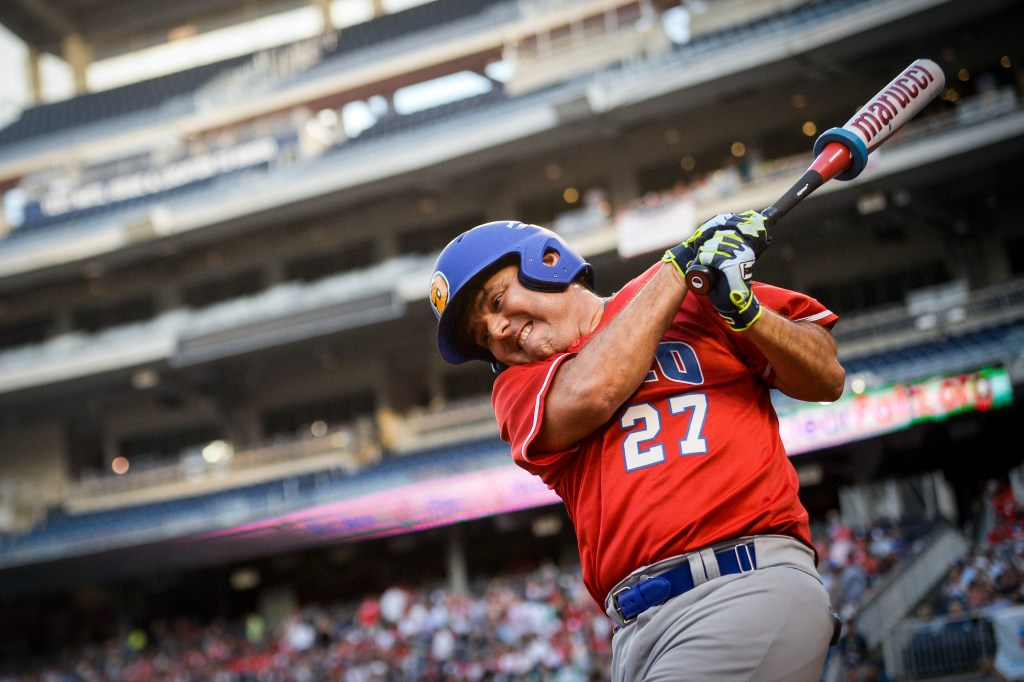 UNITED STATES - JUNE 26: Rep. Raul Ruiz, D-Calif., warms up before stepping up to the plate during the 58th annual Congressional Baseball Game at Nationals Park on Wednesday June 26, 2019. (Photo by Caroline Brehman/CQ Roll Call)