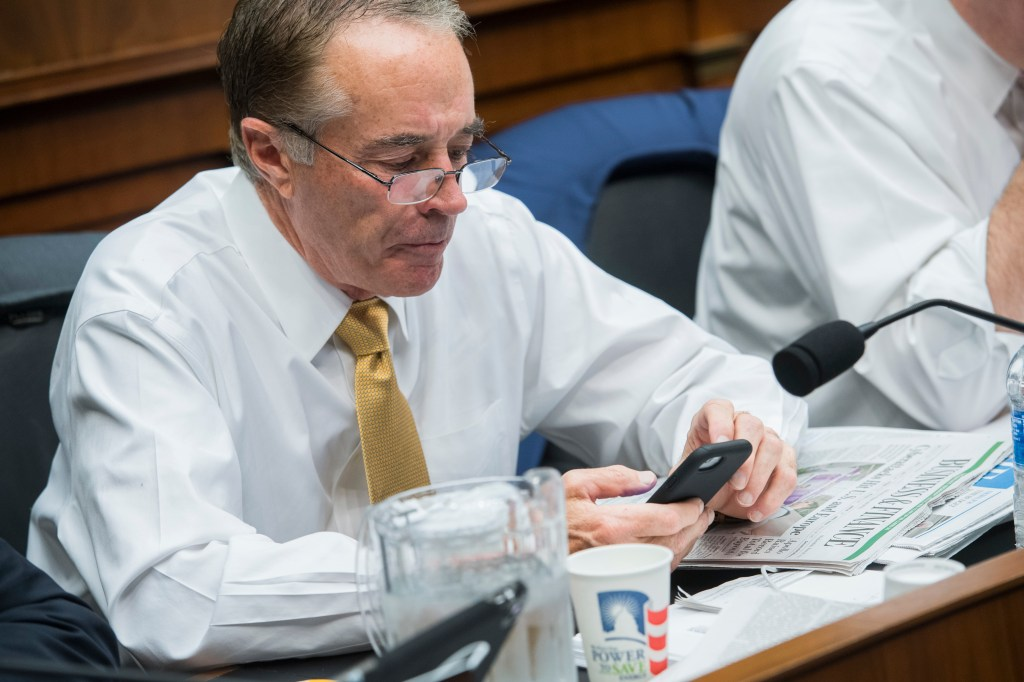 UNITED STATES - JUNE 28: Rep. Chris Collins, R-N.Y., attends a House Energy and Commerce Committee markup in Rayburn Building on June 28, 2017. Collins is a shareholder in a biotech that's stock price recently plummeted. (Photo By Tom Williams/CQ Roll Call)