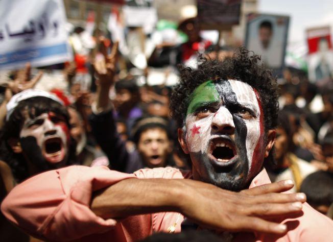 2011年葉門爆發反政府示威,成功讓前總統沙雷下台。(路透資料照片)