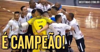 Corinthians bate Joinville e é campeão inédito e invicto da Copa do Brasil  de Futsal 907aa7b2a4257