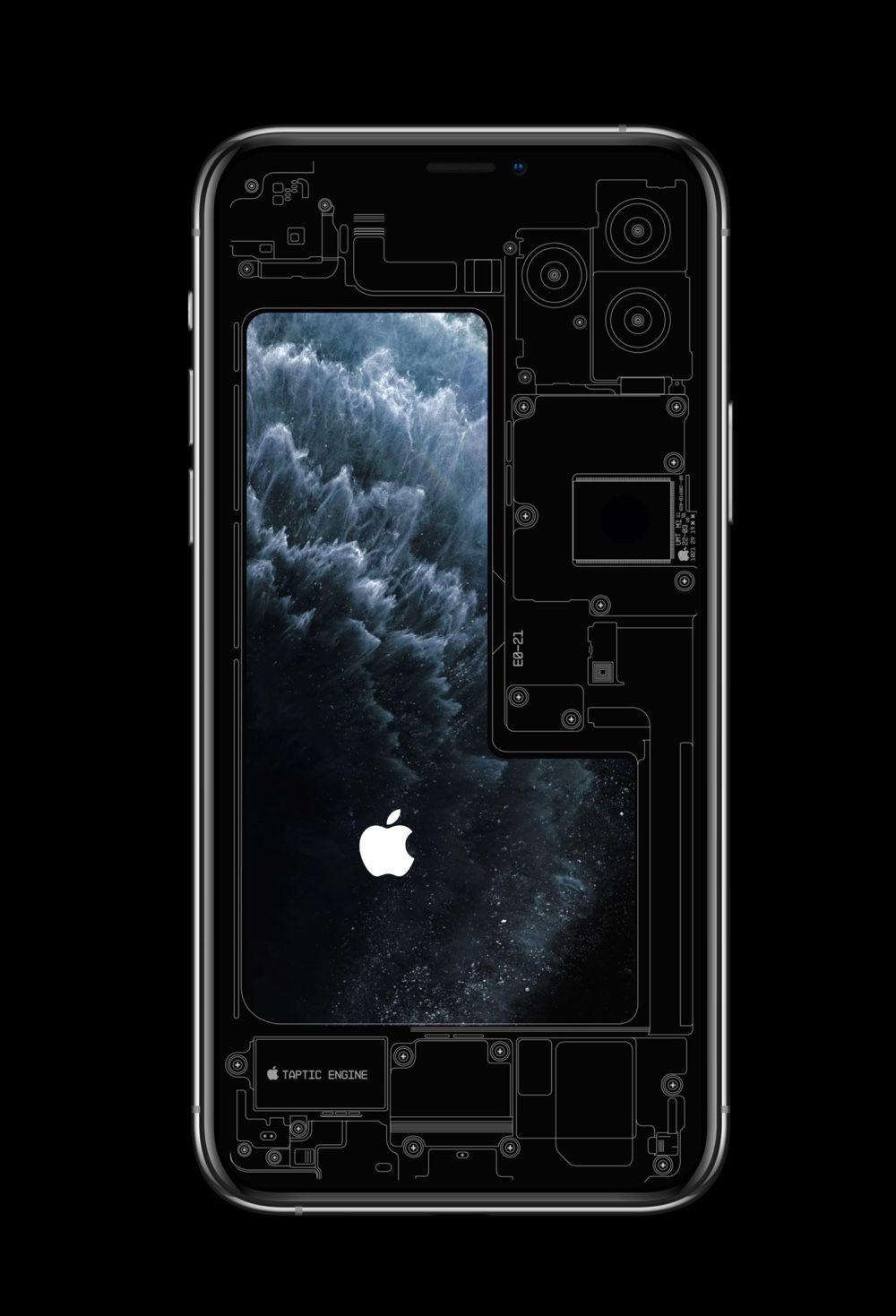 exposent les entrailles des iphone 11