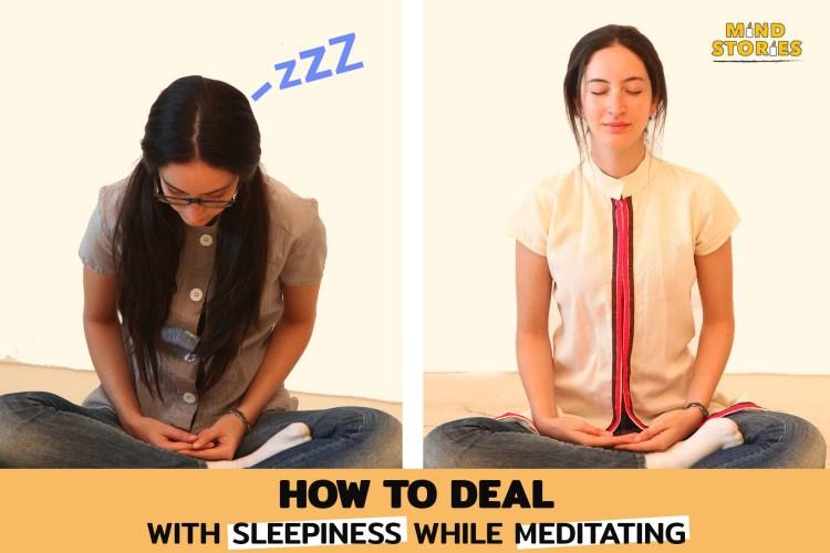 sleepiness while meditating