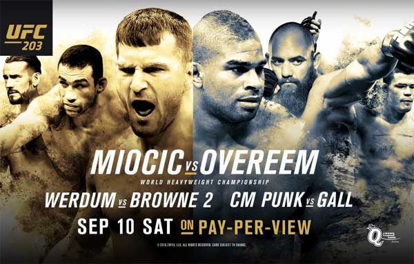 Image result for ufc 203 poster
