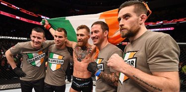 Conor McGregor and Team in Octagon - UFC Pic