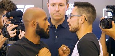 Demetrious Johnson vs Ray Borg UFC 215 Media Staredown