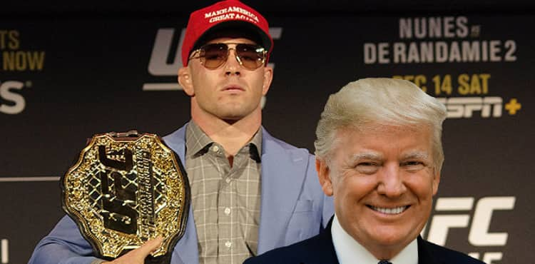 Colby Covington and Donald Trump - UFC 244