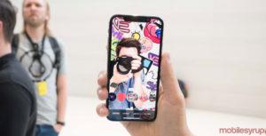 iphone x taking selfie
