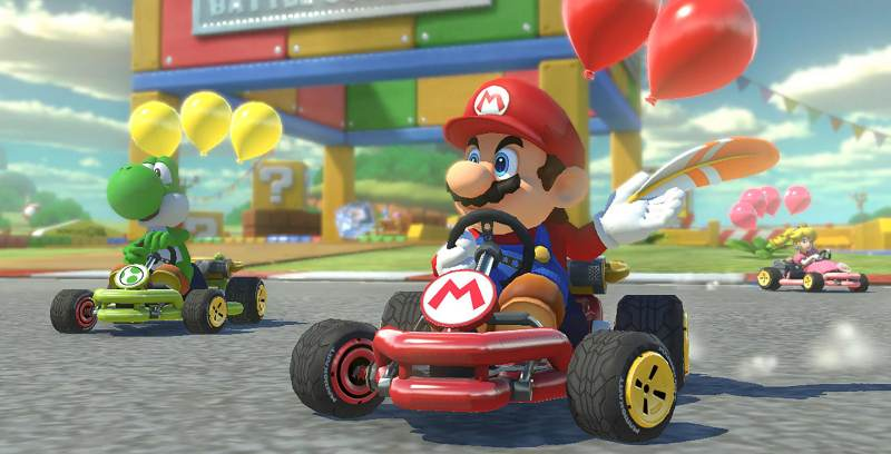 Mario Kart 8 Mario racing