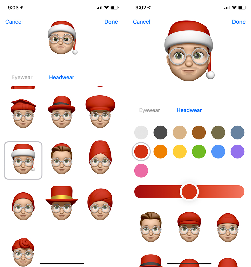 Pick the Santa Hat and the colour