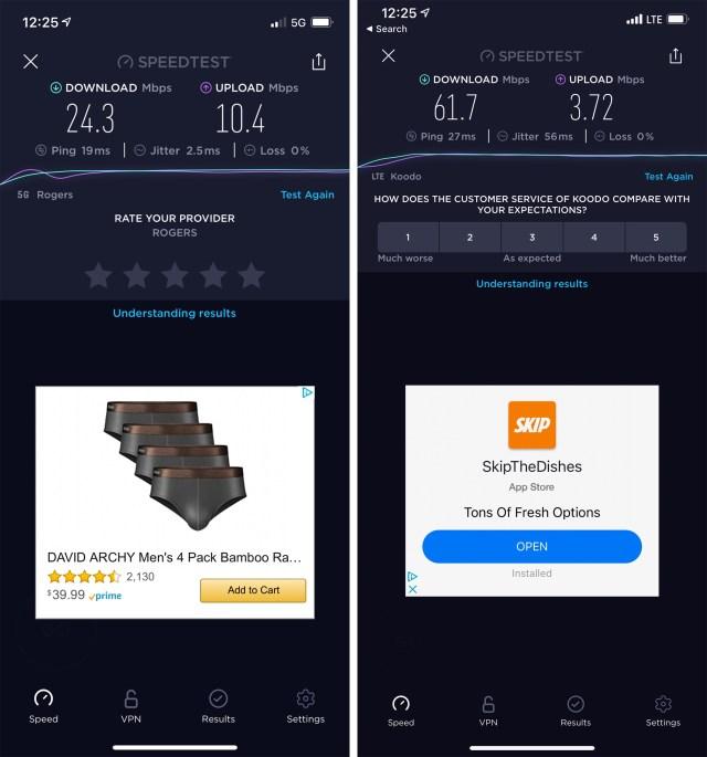 iPhone 12 5G test