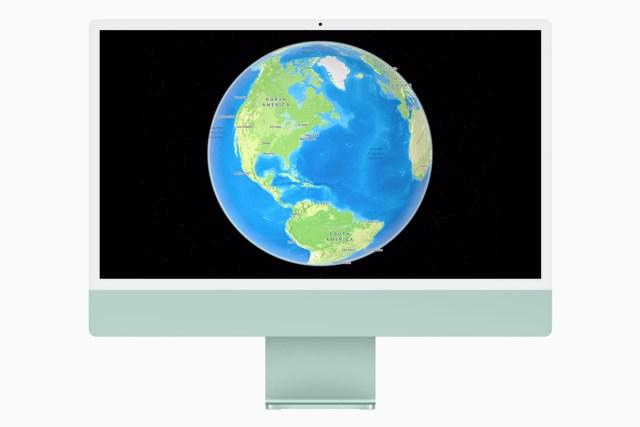apple maps globe view