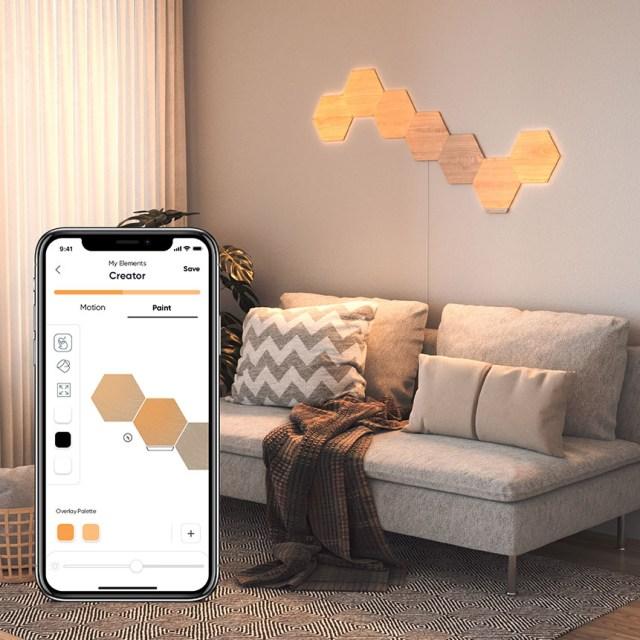 nanoleaf wood panels with app
