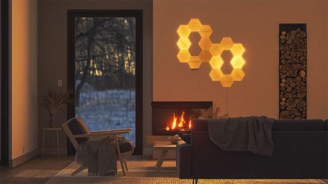 nanoleaf wood panels 0000 Elements 16x Living