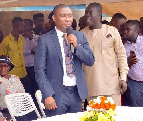 Tarkwa Nsuaem MP delivering a speech