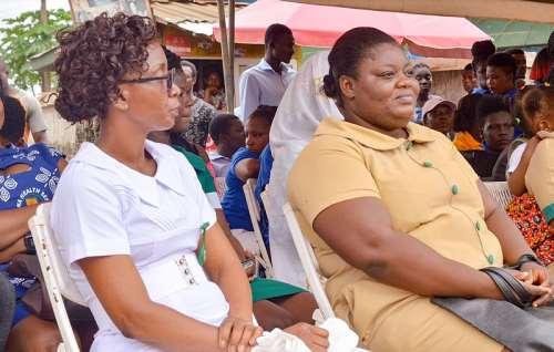 Nurses from the Aboso health centre