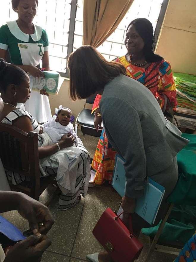 French Ambassador Visits Global Funded Maamobi General Hospital