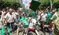 Algerians were back on the streets Friday for anti-government protests boosted by anticipation as the national team prepares to battle Senegal in Cairo in the Africa Cup of Nations final.  By - (AFP)