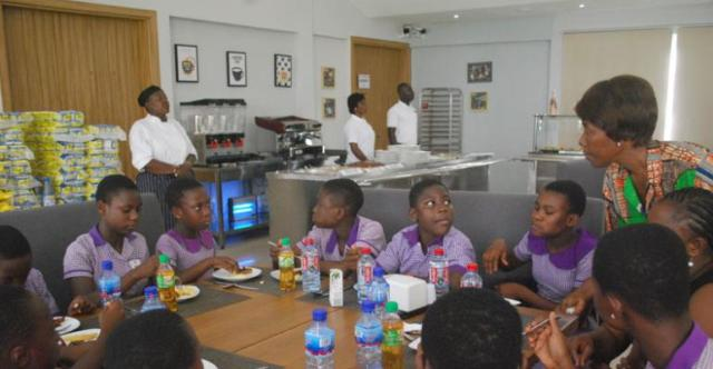The Children enjoying some meals