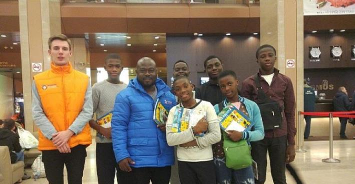 7 Ghanaian Children On A Russian Winter Adventure