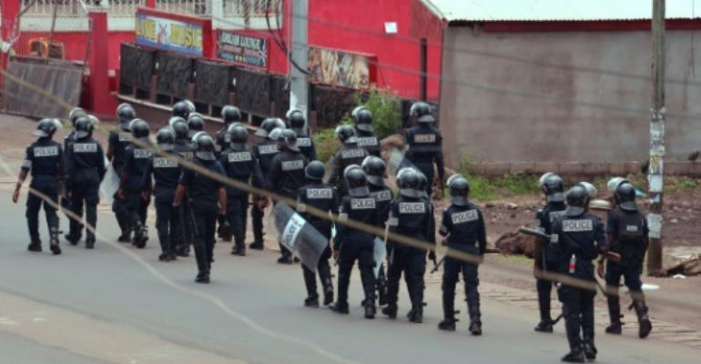 Cameroonian authorities  have denied that security forces opened fire on protesters.  By STR (AFP/File)