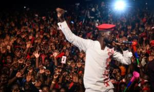 Ugandan musician-turned-politician Bobi Wine had been due to perform a gig near Kampala when police raided his hotel, his lawyer said. By Isaac KASAMANI (AFP/File)