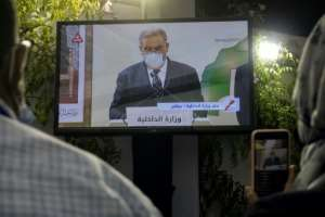 Interior Minister Abdelouafi Laftit announces the results of Morocco's parliamentary and local elections, with the long-ruling Islamists suffering a crushing defeat.  By FADEL SENNA (AFP)