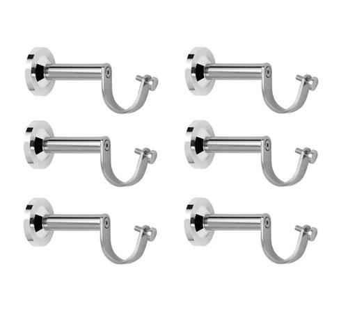 nixnine stainless steel fancy silver curtain rod support ss a 925 6ps pack of 6