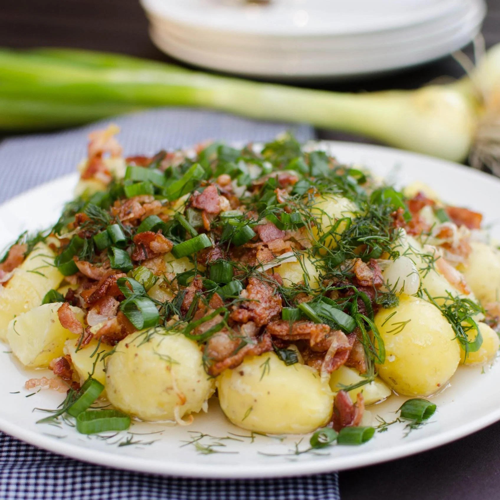 Herb Garden Potatoes on a large serving plate